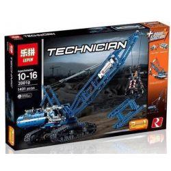 NOT Lego TECHNIC 42042 Crawler Crane , KING 90010 LEPIN 20010 Xếp hình Cần Cẩu Bánh Xích Tự Hành 1401 khối có động cơ pin