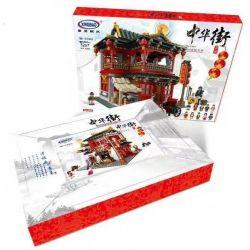 XINGBAO XB-01002 01002 XB01002 Xếp hình kiểu Lego CHINATOWN China Town Chinese Pub China Street Juxian Restaurant Quán Rượu Cổ 3267 khối