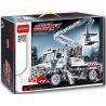Decool 3350 (NOT Lego Technic 8071 Bucket Truck Style 2 ) Xếp hình Xe Tải Bé Có Cần Trục Nâng Người (Mẫu 2) 593 khối