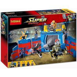 Bela 10749 Lari 10749 Decool 7131 Jisi 7131 Xếp hình kiểu Lego MARVEL SUPER HEROES Thor Vs. Hulk Arena Clash Ray God Tor VS Giant Arena Conflict Đại Chiến Giữa Thor Và Hulk 492 khối
