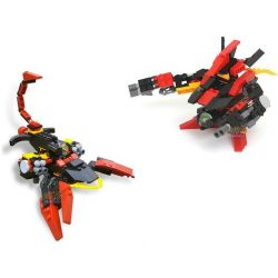 GUDI 9908 Xếp hình kiểu Lego TRANSFORMERS Death Stalker Scorpion Rô Bốt Biến Hình Bọ Cạp Chết Chóc Bắn đại Bác Tròn 133 khối