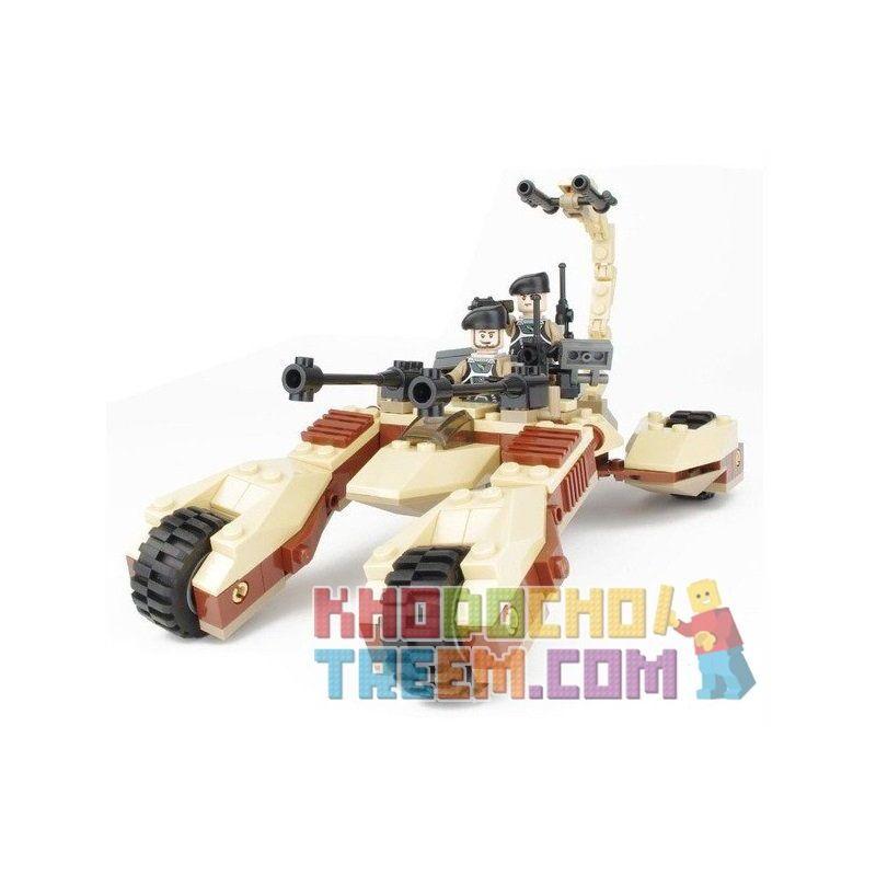 Xinlexin Gudi 8213 (NOT Lego Star wars The Desert Strike ) Xếp hình Xe Pháo Bọ Cạp 4 Bánh 204 khối