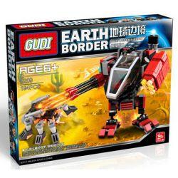 GUDI 8209 Xếp hình kiểu Lego EARTH BORDER Earth Border Rô Bốt Chiến đấu Nhỏ 1 Người Ngồi 194 khối