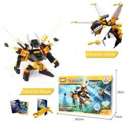 GUDI 9909 Xếp hình kiểu Lego TRANSFORMERS The Killer Bee Rô Bốt Biến Hình Ong Sát Thủ Bắn đại Bác Tròn 121 khối
