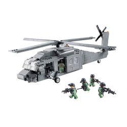 Decool 2114 (NOT Lego Military Army Sikorsky Uh 60 Black Hawk ) Xếp hình Máy Bay Quân Sự Diều Hâu Đen 562 khối