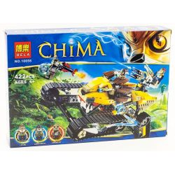 Bela 10056 (NOT Lego Legends of Chima 70005 Laval's Royal Fighter ) Xếp hình Chiến Mã Hoàng Gia Của Laval 442 khối