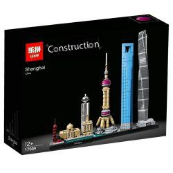 BLANK 20018 G·M 85013 LEPIN 17009 Xếp hình kiểu Lego ARCHITECTURE Landmark Architecture Shanghai Skyline Kiến Trúc Thượng Hải 597 khối