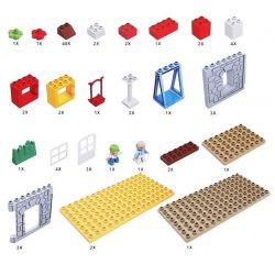 HYSTOYS HONGYUANSHENG AOLEDUOTOYS  HG-1421 1421 HG1421 Xếp hình kiểu Lego Duplo DUPLO Family House nhà ông ngoại 83 khối