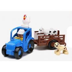 NOT Lego Duplo DUPLO 10525 Big Farm, HYSTOYS HONGYUANSHENG AOLEDUOTOYS  HG-1365 1365 HG1365 Xếp hình nông trại vừa 121 khối