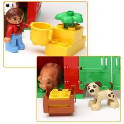 Hystoys HongYuanSheng Aoleduotoys GM-5001 HG-1268 Xếp hình kiểu LEGO Duplo Big Farm Nông Trại Nhỏ gồm 2 hộp nhỏ 76 khối