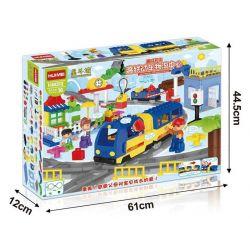 NOT LEGO Duplo 5681 Police Station, Hystoys HongYuanSheng Aoleduotoys GM-5011C HG-1266 Xếp hình Trụ Sở Cảnh Sát Với Trực Thăng Cùng ô Tô Cảnh Sát 60 khối