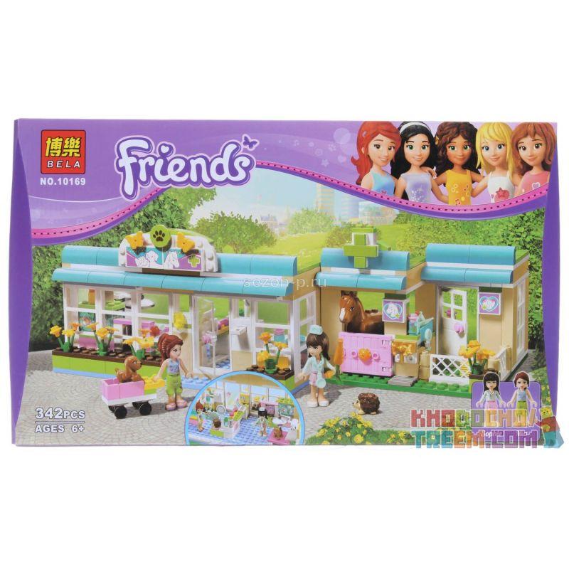 Bela 10169 (NOT Lego Friends 3188 Heartlake Vet ) Xếp hình Bệnh Viện Thú Y Hồ Trái Tim 343 khối