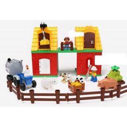 NOT Lego Duplo DUPLO 4665 Big Farm, HYSTOYS HONGYUANSHENG AOLEDUOTOYS  HG-1364 1364 HG1364 Xếp hình trang trại lớn 70 khối