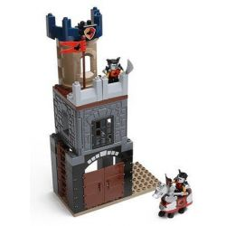 NOT LEGO Duplo 4779 Defence Tower, Hystoys HongYuanSheng Aoleduotoys HG-1316 Xếp hình tháp canh phòng thủ 64 khối