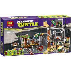 Bela 10210 Lari 10210 Xếp hình kiểu Lego TEENAGE MUTANT NINJA TURTLES Turtle Lair Attack Ninja Turtle Tortoise Nest Cuộc Tấn Công Của Ninja Rùa 488 khối