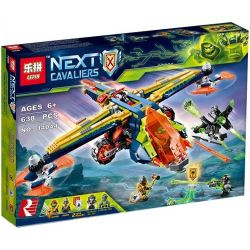 Bela 10818 Lari 10818 LEPIN 14044 Xếp hình kiểu Lego NEXO KNIGHTS Aaron's X-bow Alon's X Shenbow Chiến Cơ Của Aaron 569 khối