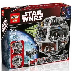 KING 81037 LELE 35000 LEPIN 05035 LION KING 180009 Xếp hình kiểu Lego STAR WARS Death Star Ngôi Sao Chết 3803 khối