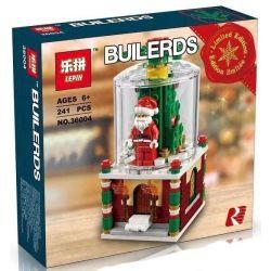 NOT Lego SEASONAL 40223 Snowglobe Snowflake Glass Ball , LEDUO 49006 LEPIN 36004 Xếp hình Quả Cầu Tuyết ông Già Noel 215 khối
