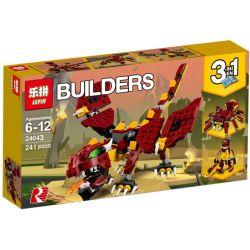 Lepin 24043 Bela 11044 Decool 3130 (NOT Lego Creator 31073 Mythical Creatures ) Xếp hình Những Sinh Vật Huyền Thoại lắp được 3 mẫu 241 khối