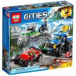 Lepin 02084 Sheng Yuan 6962 SY6962 Bela 10862 (NOT Lego City 60172 Dirt Road Pursuit ) Xếp hình Cuộc Truy Đuổi Của Cảnh Sát Trên Phố Dirt 332 khối