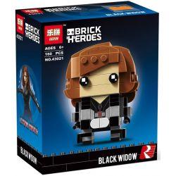 Bela 10768 Lari 10768 Decool 6815 Jisi 6815 LEPIN 43021 LOZ 1420 Xếp hình kiểu Lego BRICKHEADZ Fangtu Black Widow Góa Phụ Đen 143 khối