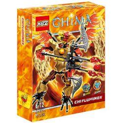 XSZ KSZ 816-1 Xếp hình kiểu Lego LEGENDS OF CHIMA CHI Fluminox Qigong Legend Qigong Phoenix King Chiến Binh Khổng Lồ Fluminox 91 khối