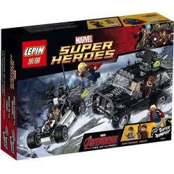 LELE 79083 LEPIN 07013 Xếp hình kiểu Lego MARVEL SUPER HEROES Avengers Hydra Showdown Avengers Search For Nine Snake Biệt đội Siêu Anh Hùng Triệt Hạ đội Quân Mãng Xà Nhiều đầu 220 khối