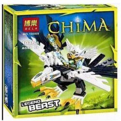 Lepin 04002 Bozhi 98053-2 Bela 10069 (NOT Lego Legends of Chima 70124 Eagle Legend Beast ) Xếp hình Chim Ưng Đại Chiến 104 khối