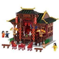 XINGBAO XB-01020 01020 XB01020 Xếp hình kiểu Lego CHINATOWN China Town Chinese Theater China Street Big Theater Nhà Hát Cổ Trung Quốc 3820 khối