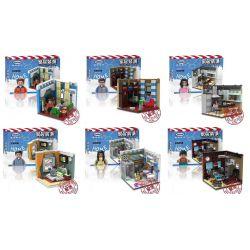 Xingbao XB-01401 (NOT Lego Modular Buildings Design Interior For Various Rooms ) Xếp hình 6 Căn Phòng Sinh Hoạt 2186 khối