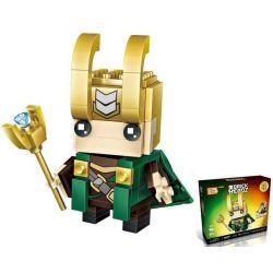 Loz 1425 Mini Blocks BrickHeadz Loki - The God Of Mischief Xếp hình Loki - Thần Lừa Lọc 142 khối