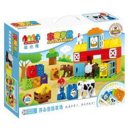 JUN DA LONG TOYS JDLT 5310A Xếp hình kiểu Lego Duplo DUPLO Happy Farm Nông Trại Vui Vẻ 51 khối