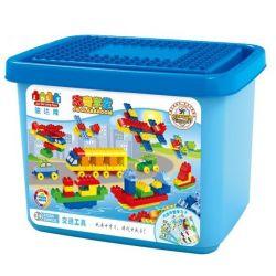 JUN DA LONG TOYS JDLT 5320A Xếp hình kiểu Lego Duplo DUPLO Transportation In A World Các Phương Tiện Của Tương Lai 220 khối