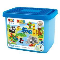 JUN DA LONG TOYS JDLT 5318A Xếp hình kiểu Lego Duplo DUPLO Animal World Big Bucket Thế Giới Động Vật 220 khối