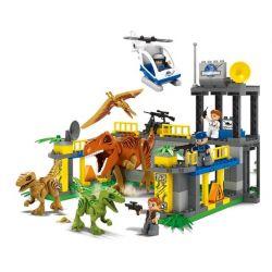 JUN DA LONG TOYS JDLT 5073A Xếp hình kiểu Lego Duplo DUPLO Dinosaur World Lạc Vào Thế Giới Khủng Long 138 khối