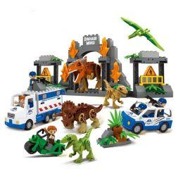JUN DA LONG TOYS JDLT 5072A Xếp hình kiểu Lego Duplo DUPLO Dinosaur World Thế Giới Khủng Long 141 khối