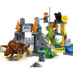 JUN DA LONG TOYS JDLT 5076A Xếp hình kiểu Lego Duplo DUPLO Dinosaur World Chiến Đấu Bầy Khủng Long 106 khối