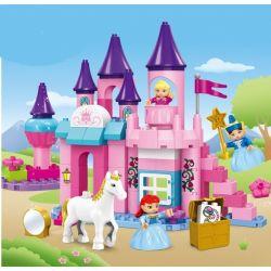 JUN DA LONG TOYS JDLT 5252A Xếp hình kiểu Lego Duplo DUPLO Dream Castle And Princess Tòa Lâu Đài Và Công Chúa 96 khối