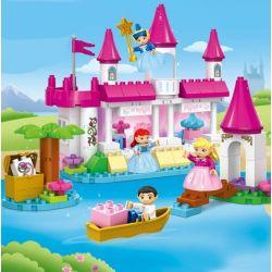 JUN DA LONG TOYS JDLT 5253A Xếp hình kiểu Lego Duplo DUPLO Castle On River Lâu Đài Trên Sông 110 khối