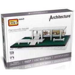Loz 1012 Mini block Architecture Fransworth House Xếp hình Ngôi Nhà Fransworth 386 khối
