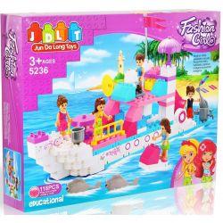 JUN DA LONG TOYS JDLT 5236A Xếp hình kiểu Lego Duplo DUPLO Adventure On Boat Cuộc Du Thuyền Náo Nhiệt 118 khối