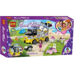 Jemlou 20004 Xếp hình kiểu Lego GOOD FELLOW Good Fellow Camping Car Good Accompany Camper Xe Ô Tô Cắm Trại 287 khối