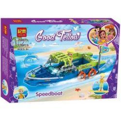 Jemlou 20001 Xếp hình kiểu Lego GOOD FELLOW Good Fellow Speedboat Good Accompany Xuồng Cao Tốc 116 khối