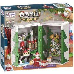 Winner 5037 Xếp hình kiểu Lego SEASONAL White Christmas Christmas Gift Box Hộp Quà Giáng Sinh 452 khối