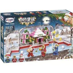 Winner 5035 Xếp hình kiểu Lego SEASONAL White Christmas Christmas Crystal Case Hộp Pha Lê Giáng Sinh 411 khối