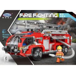 XINGBAO XB-03028 03028 XB03028 Xếp hình kiểu Lego FIRE RESCURE Air Port Crash Truck Fire Fighting Airport Fire Truck Xe Chữa Cháy Sân Bay 757 khối
