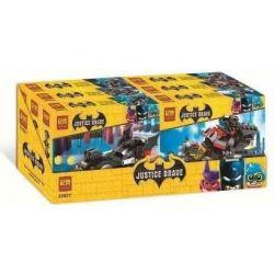 Jemlou 20007 (NOT Lego Batman Movie Justice Brave ) Xếp hình Những Siêu Xe Của Batman gồm 6 hộp nhỏ 735 khối