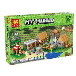 Bela 10531 Lari 10531 BLANK S7606 7606 BLX 81052 LELE 79351 LEPIN 18008 QS08 44042 Xếp hình kiểu Lego MINECRAFT The Village My World Village Làng 1600 khối