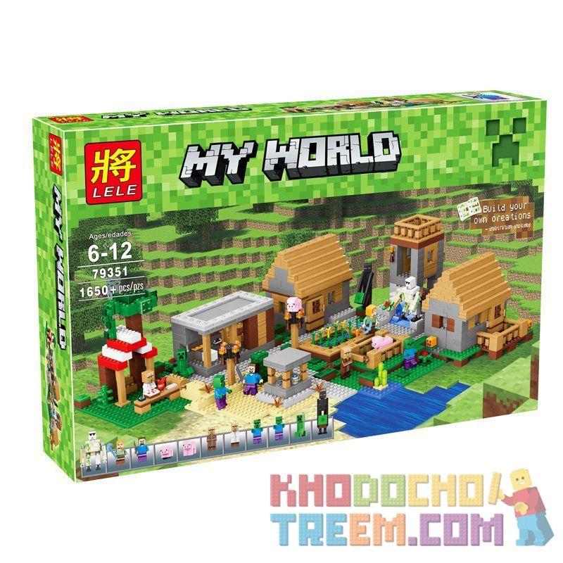 Lepin 18008 Bela 10531 Lele 79351 Lezi 93095 (NOT Lego Minecraft 21128 The Village ) Xếp hình Ngôi Làng 1673 khối