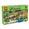 Lepin 18008 Bela 10531 Lele 79351 (NOT Lego Minecraft 21128 The Village ) Xếp hình Ngôi Làng 1673 khối